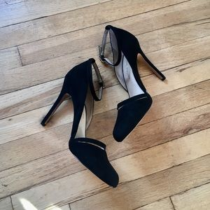 Sole Society Julianne-Hough Black Suede Pumps